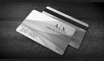 Пластиковые карты с магнитной полосой — ARMANI EXCHANGE