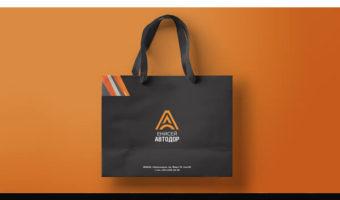 Бумажный пакет с логотипом — Енисей Автодор