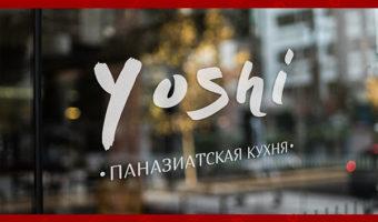 Наклейка на стекло — YOSHI