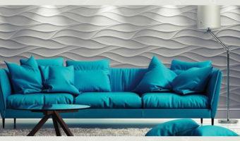 Пластиковые 3D панели — Волна