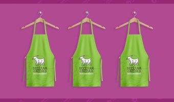 Фартук с логотипом — Веселая коза